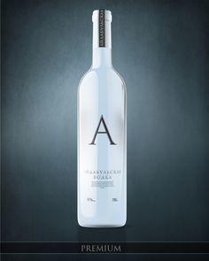"""A"" aidabull vodka Russian Vodka, Acquired Taste, Bacchus, Wine Label, Wine And Spirits, Packaging Design, Vodka Bottle, Diffuser, Juice"