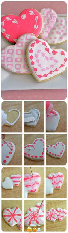 How to decorate ginger bread (also for Valentine)