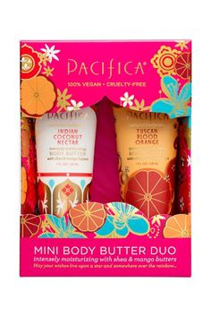 """Everyone needs body lotion, and in the winter months, a richer butter will ward off any dry patches and itchy spots. An added bonus? The Tuscan Blood Orange scent will draw the attention of everyone around you — really."" Pacifica Holiday Body Butter Duo Gift Set, $8.99, available at Target. #refinery29 http://www.refinery29.com/2016/12/131489/what-to-buy-at-target-beauty-holiday-2016#slide-40"