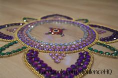 Kundan rangoli tealight candle decoration handmade by Opulence. Also great for wedding decorations.  £13.00 OpulenceHQ@outlook.com
