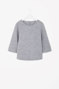 COS+ +A-line+wool+top
