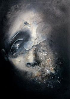Dark abstract portraits by Eric Lacombe