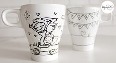 ¡El día más feliz de vuestras vidas inmortalizado en todos los desayunos! http://www.laquepinta.com/artistazas-como-detalle-de-boda/