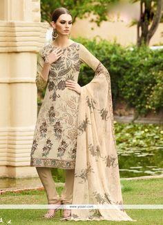 Precious Faux Crepe Multi Colour Embroidered Work Churidar Designer Suit Model…