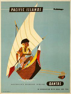 A3 for glass Frame qantas boac vintage travel Koala  print poster
