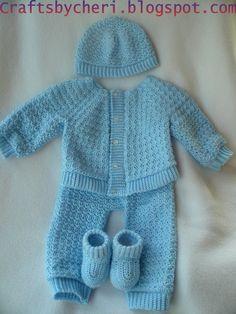Cheri Crochet Original Baby PATTERN-Newborn to 3 months