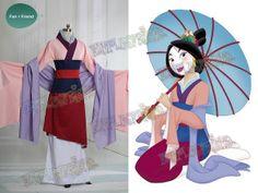 Disney Mulan Cosplay Mulan Chinese Costume Outfit