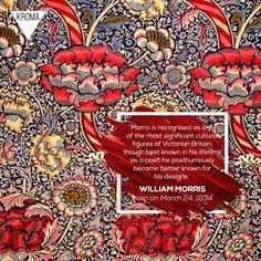 - Born Today: was an English textile designer, poet, novelist, translator, and socialist activist. Arts And Crafts Movement, William Morris, Textile Design, Poet, English, Living Room, Day, Living Rooms, Drawing Room
