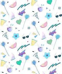 Summer Pattern  Art Print