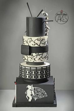 If you love Japan, but can't quite swing a destination wedding in Tokyo, we have just the thing for you. Check out this list of 15 amazingly beautiful wedding cakes inspired by Japanese culture and. Japanese Wedding Cakes, White Wedding Cakes, Beautiful Wedding Cakes, Gorgeous Cakes, Pretty Cakes, Amazing Cakes, White Cakes, Modern Cakes, Unique Cakes
