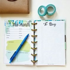 Love this insert! Comes in a set of other lists and is shown in the Mini Happy Planner but is available in other sizes.