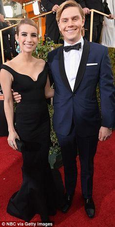 Emma Roberts and fiancée Evan Peters