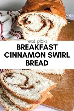 Homemade cinnamon swirl bread is truly magnificent and only requires a few basic ingredients including vanilla bean paste, cinnamon, and sugar. It's soft and tender with a gooey cinnamon swirl that is just calling out for a smear of butter! Recipes With Yeast, Easy Baking Recipes, Easy Cookie Recipes, Homemade Desserts, Homemade Breads, Quiche Recipes, Bread Recipes, Cinnamon Swirl Bread, Sweet Dough