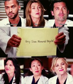 Grey Sloan Memorial Hospital- in memory of the 2 doctors killed in the plane crash, Lexie Grey and Mark Sloan
