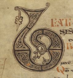 I enjoy all of the detail work and the well thought out contrast in the knots. The eye flows nicely around the piece Medieval Manuscript, Medieval Art, Medieval Fantasy, Renaissance Art, Celtic Symbols, Celtic Art, Illuminated Letters, Illuminated Manuscript, Art Ancien