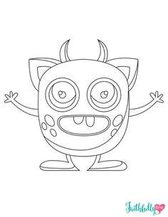 Monster Coloring Pages {Free Printables | Printable coloring sheets ...