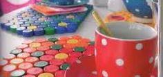 Como hacer manualidades con tapas de gaseosas plásticas