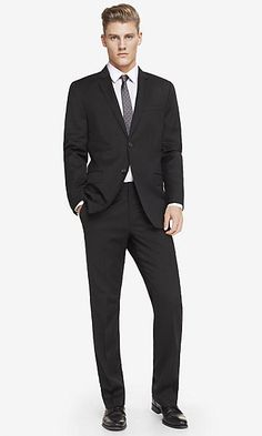 Express Black Producer Suit