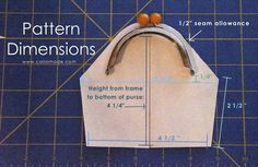 Caila-Made: MAKE YOUR OWN metal frame purse PATTERN: A Tutorial