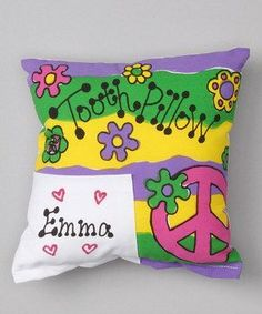 Personalized Peace Sign Tooth Fairy Pillow