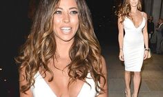 Pascal Craymer flaunts the cleavage at film premiere