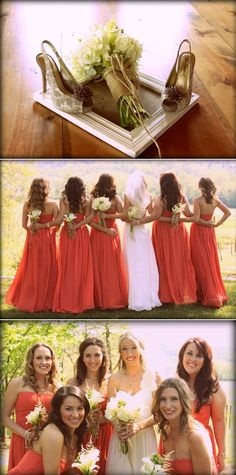 Love the colors of the bridesmaid dresses