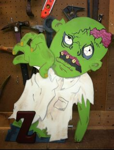 Hand made by me zombie wall hanging. #zombiewallhanging