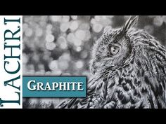 Caran d'Ache Grafwood graphite review and Eagle Owl drawing demo w/ Lachri - YouTube
