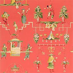 Chinoiserie wallpaper and fabric - Thibaut