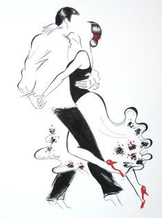 Choose your favorite tango dance paintings from millions of available designs. All tango dance paintings ship within 48 hours and include a money-back guarantee. Romantic Couple Pencil Sketches, Tango Art, Dance Paintings, Partner Dance, Silhouette Art, Dance Photos, Artist Life, Fantasy Illustration, Art Pages