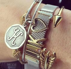 Keep looks GORGEOUS stacked with Alex and Ani bracelets