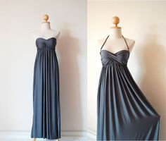 Gorgeous Silver Grey Evening Dress by pinksandcloset on Etsy, $55.00
