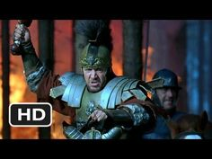 Gladiator (1/8) Movie CLIP 1. There was a lot of fire. 2. When Gladiators battled they wore helmets, chest protectors, bow and arrows, axes, and shields. When Gladiators fought it was hand on combat, no guns or anything.