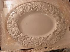 Italy Gumps Serving Platter Plate Ceramica VBC Large White Christmas Centerpiece #LaCeramica