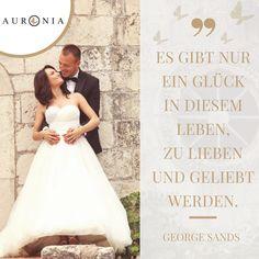Zitat von George Sand: Es gibt nur ein Glück im Leben – lieben und geliebt zu werden. Sprüche / Liebe / Hochzeit / Beziehung / Schön / Nachdenklich / Deutsch