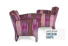 Get the Look      Velvet-Upholstered Gossip Chair