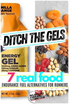 """Are you are looking for some """"real"""" food endurance fuel alternatives to standard gels, drinks, and chews? Perhaps the sticky gels or sugary drinks just aren't for you. Or maybe then send your stomach into a rebellious state, taking the focus away from your actual running.  You aren't alone.  Here are 7 real food endurance fuel alternatives for runners and other endurance athletes. Marathon Tips, Marathon Training, Marathon Nutrition, Triathlon Training, Runners Food, Foods For Runners, Runner Diet, Vegan Runner, Marathon Motivation"""