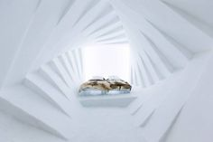 The Icehotel in Sweden has rooms that'll make you feel dizzy.