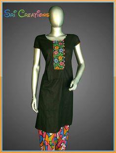 Black pattiya salwar with multicolor embroidery..