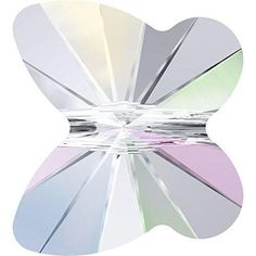 5754 Swarovski Crystal Butterfly Beads 6-8mm Crystal AB / 6mm - Pack of 10 Bluestreak Crystals