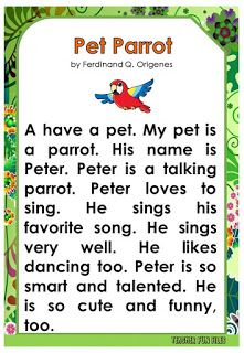 Teacher Fun Files: English Reading Passages about Animals English Writing Skills, English Reading, Writing Lessons, English Study, Learn English, First Grade Reading Comprehension, Grade 1 Reading, Phonics Reading, Kindergarten Reading