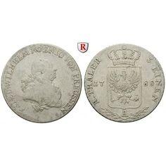 Brandenburg-Preussen, Königreich Preussen, Friedrich Wilhelm II., 1/3 Taler 1788, ss: Friedrich Wilhelm II. 1786-1797. 1/3 Taler… #coins