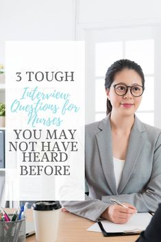 Are you preparing for a nursing interview? These 3 tough interview questions for nurses (and tips for answering them! Medical Assistant Interview Questions, Leadership Interview Questions, Interview Tips For Nurses, School Interview, Interview Questions And Answers, Interview Help, Interview Attire, Job Interviews, Nursing Blogs