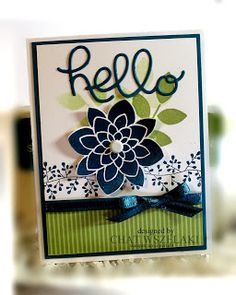 Stampin' Up Flower Medallion Punch, Crazy About You, Bordering Blooms Me, my Stamps and I
