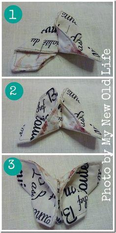 Mademoiselles des Ideés: Tutorial Ghirlanda di Farfalle Origami di Tessuto