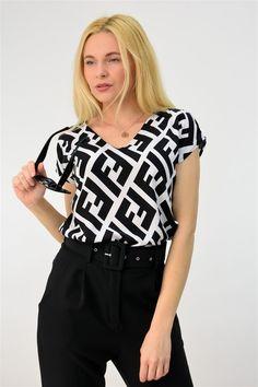 Πουκάμισο κοντομάνικο εμπριμέ | POTRE Blouse, Collection, Tops, Women, Fashion, Blouse Band, Moda, Women's, Shell Tops