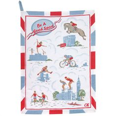 Searching for things to use at my Afternoon tea to celebrate the Diamond Jubilee I came across this tea towel for the 2012 Olympics in London and rather like it.