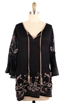 Style & Co Black and Beige Tunic Size L #fashion #style