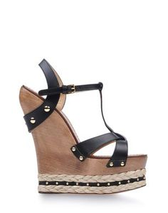 From Taking Cues from Resort 2014: Wooden Accessories  Dolce & Gabbana wedge, $965