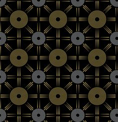 Black. Gold. Silver Patterns by Claudia Sandoval, via Behance
